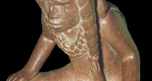 A cross-legged man from Spiro Mound (modern Oklahoma), 900-1450 AD