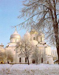 Santa Sophia cathedral in Novgorod (1050 AD)