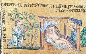 Noah drunk (St. Mark's, Venice, 1200s AD)