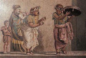 Street musicians (Pompeii, before 79 AD)