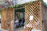 Sukkah - a temporary house just for the holiday