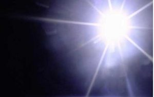The Sun shining from space