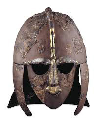 Sutton Hoo Anglo-Saxon helmet (500s-600s AD, now in the British Museum)