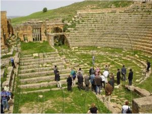 The theater at Thagaste, in Algeria, where Augustine grew up.