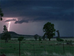 A thunderstorm in South Africa