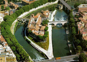 Tiber island from above