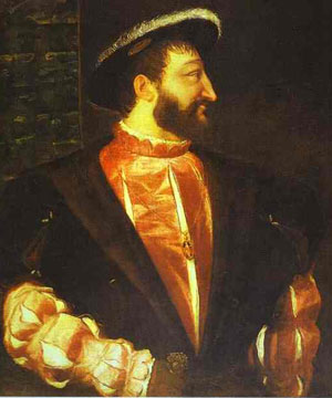 Francis I (also by Titian, 1539)