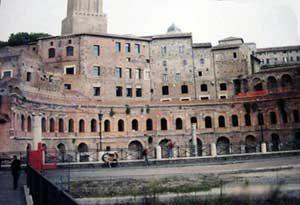 The front of Trajan's Markets, facing his forum and Trajan's Column
