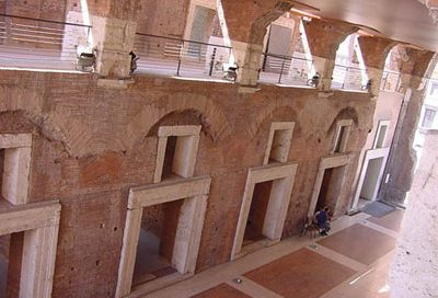 The second floor of Trajan's Markets