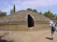 A tumulus tomb from Cerveteri