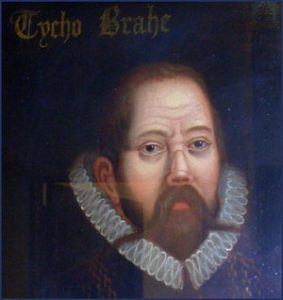 Tycho Brahe (He looks funny because his nose got cut off in a duel and he wore a false one made of brass.)