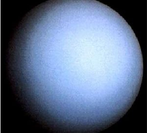 Uranus, a planet - looks like a big blue ball