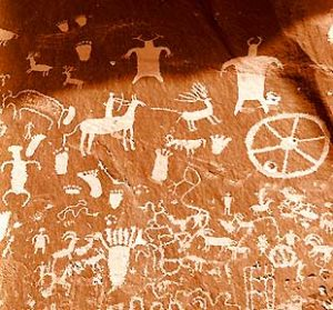 Rock Art from Utah, about 1700 AD - American language