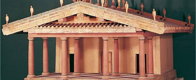 Etruscan temple at Veii - a reconstruction