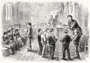 European boys at school in the 1800s