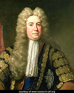 Robert Walpole - a white man with a long white wig on