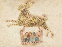 Drawing of Easter Bunny (Pennsylvania, ca. 1800 AD)