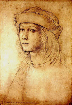 Raphael's early selfie as a teenager
