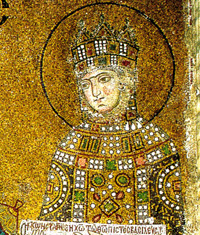 A mosaic of the Empress Zoe (from the church of Hagia Irene)