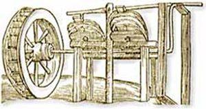 Vanocchio Biringuccio, Water-wheel bellows (Venice, 1540)