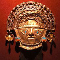 Inca gold mask