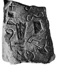 The earliest alphabetic writing (about 1800 BC, Egypt)