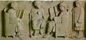 Roman boys and their teacher at school (Trier)