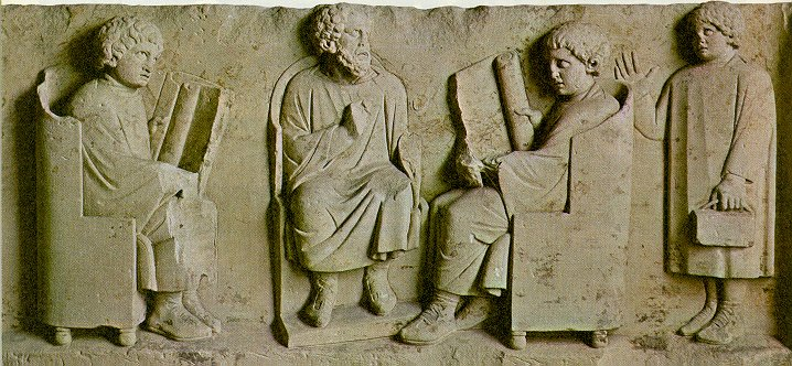 Roman boys and their teacher at school (Trier)