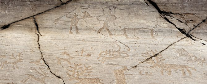 Stone Age rock art from Val Camonica, in northern Italy.