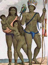 Arawak family in Trinidad, ca. 1500 AD