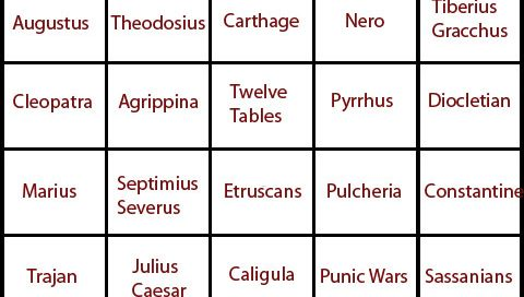 Rome bingo card Rome Bingo card (It will get biggerif you drag it to your desktop)