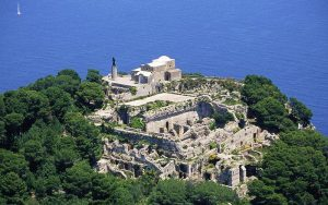 Tiberius' villa on the island of Capri