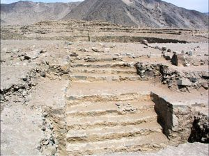 Stepped platform at Caral (ca. 2200 BC) - Norte Chico architecture