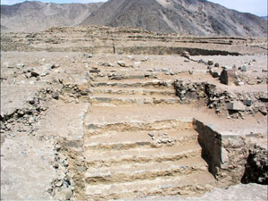 Stepped platform at Caral (ca. 2200 BC)
