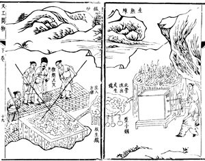 Song Yingxing, Chinese blast furnaceand box bellows (1637)