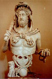 The Roman emperor Commodus, Marcus Aurelius' son