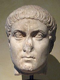 The Roman emperor Constantius II, son of Constantine