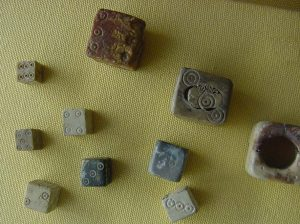 Roman dice - pieces from Roman games