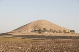 A large earth mound