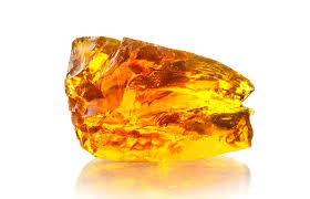 A chunk of yellow amber