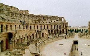 Another view of El Djem amphitheater - where Roman gladiators fought