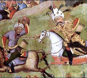 The Safavid ruler Ismail kills the Uzbek leader