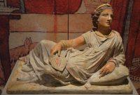 An Etruscan woman on her sarcophagus