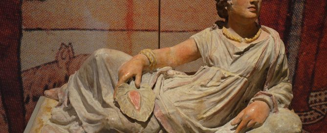 An Etruscan woman on her sarcophagus