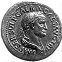The Roman emperor Galba, first of the four emperors of 69 AD