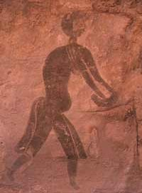 Using a grindstone(Tassili n'Ajjer, Algeria, ca. 7000 BC)