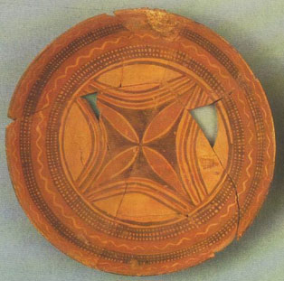 A plate from northern Mesopotamia, about 5000 BC