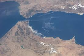 Straits of Gibraltar, taken from space (thanks to NASA)