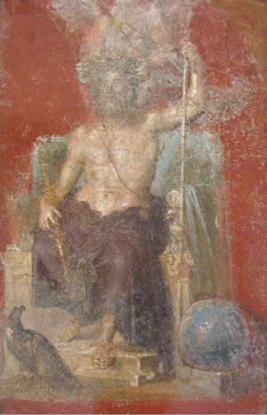 Jupiter (fresco from the House of the Dioscuri, Pompeii, ca. 79 AD)
