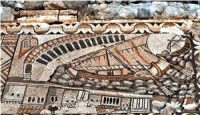 Ship with a lateen sail Kelenderis Mosaic (400s AD, Turkey)